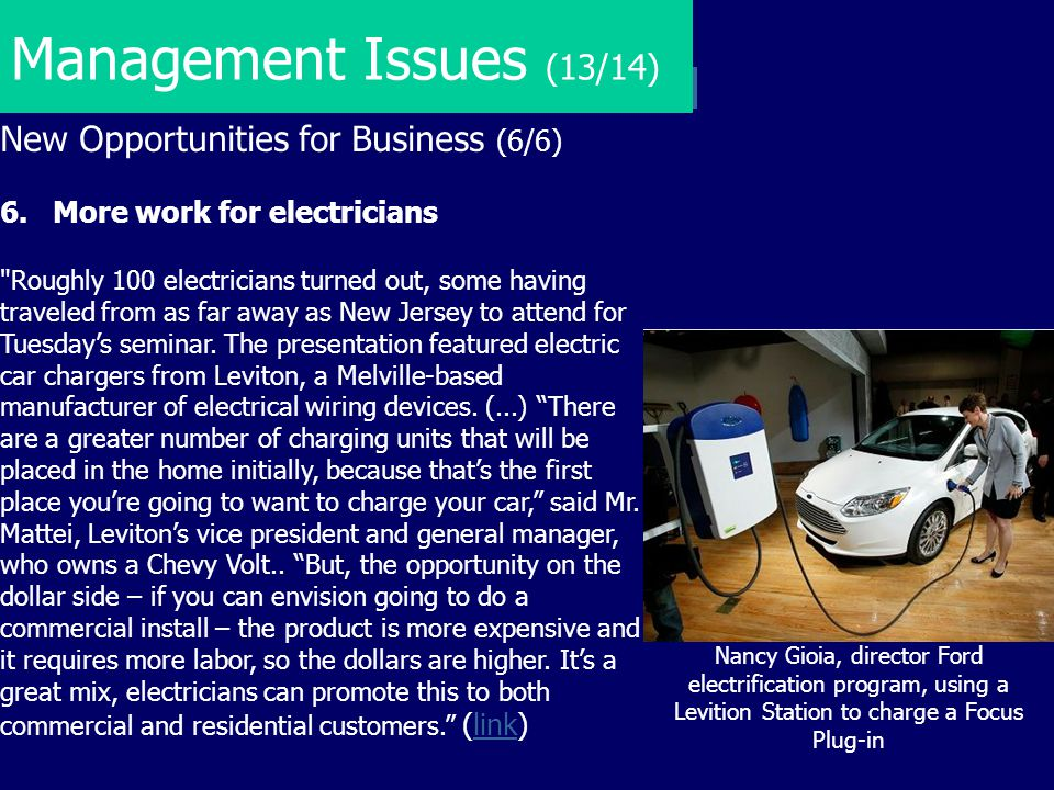 Management Issues (13/14) New Opportunities for Business (6/6)