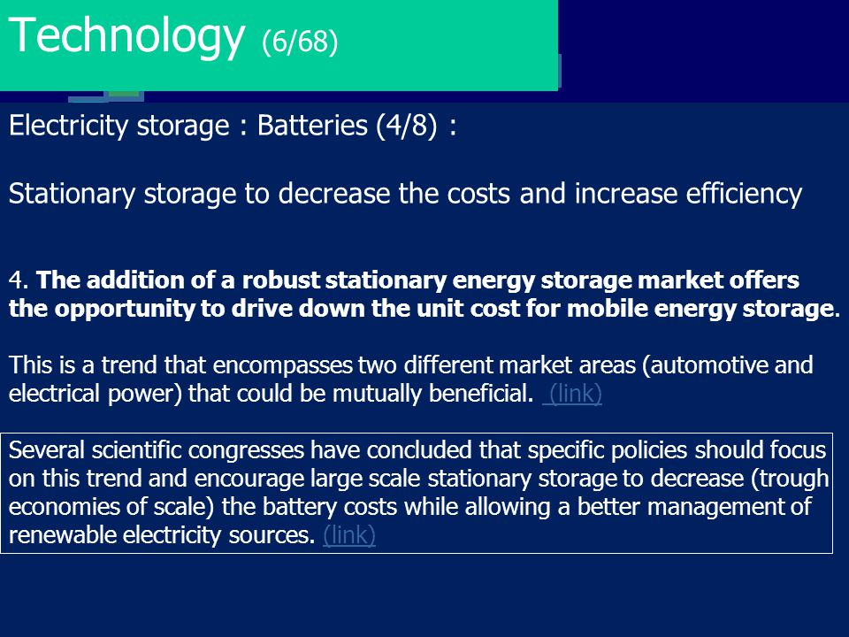 Technology (6/68) Electricity storage : Batteries (4/8) :