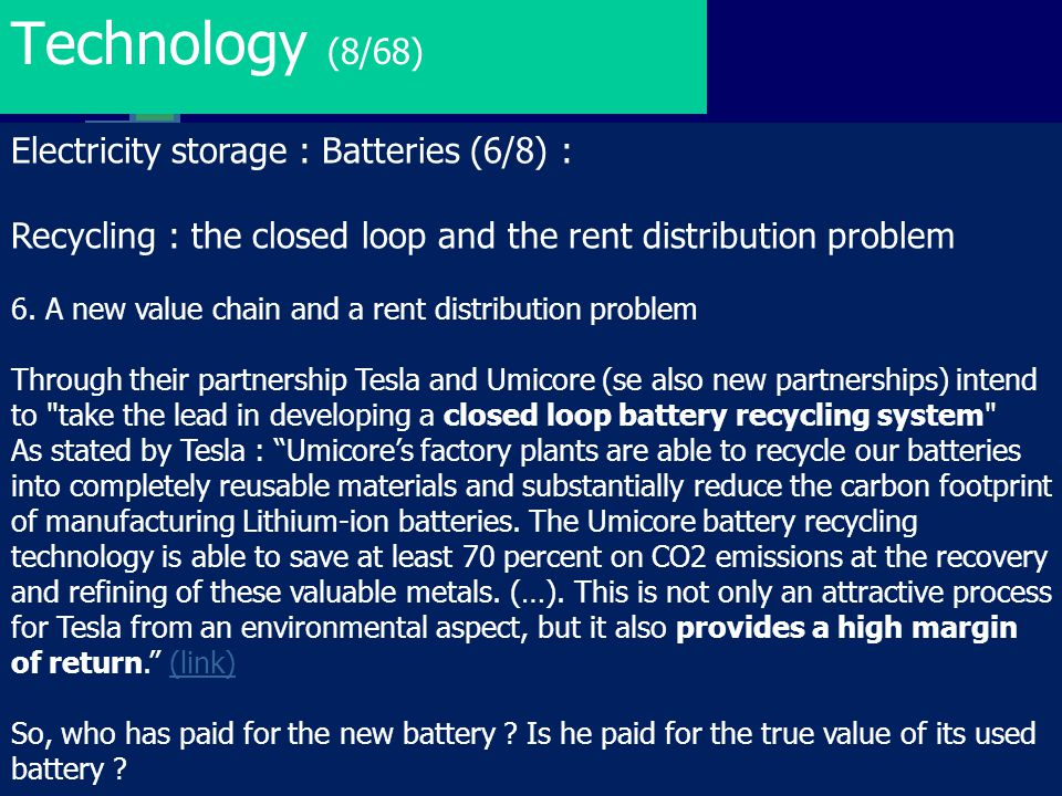 Technology (8/68) Electricity storage : Batteries (6/8) :