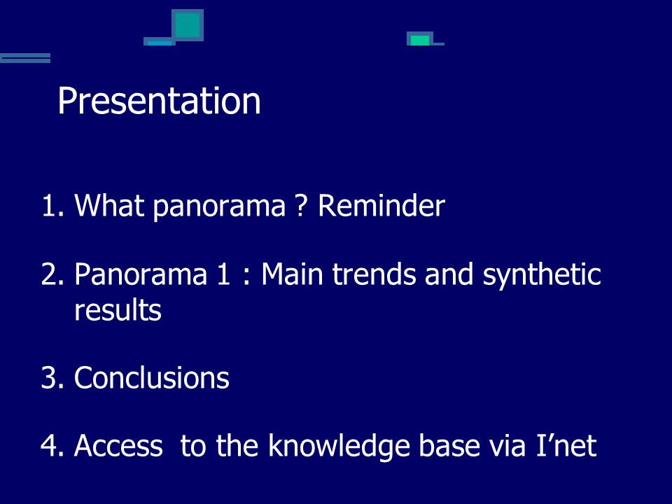 Presentation What panorama Reminder
