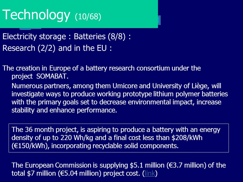 Technology (10/68) Electricity storage : Batteries (8/8) :