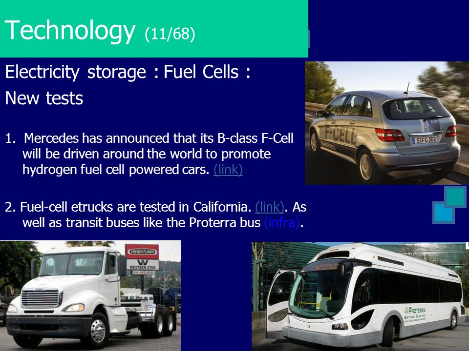 Technology (11/68) Electricity storage : Fuel Cells : New tests