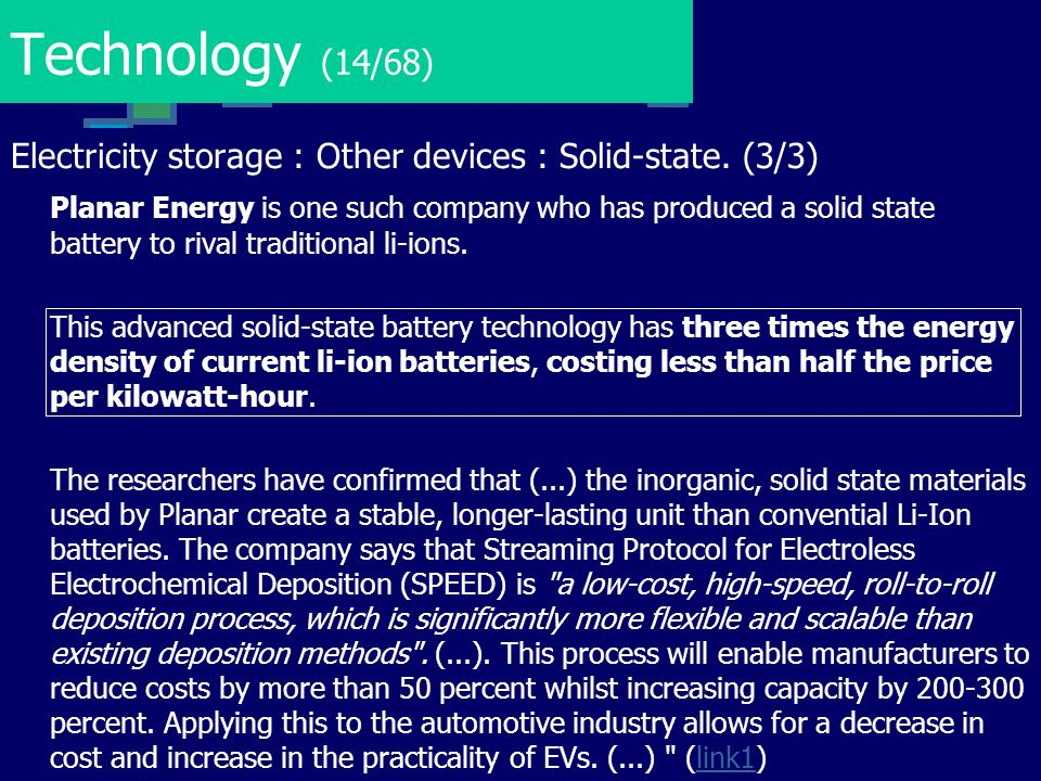 Technology (14/68) Electricity storage : Other devices : Solid-state. (3/3)