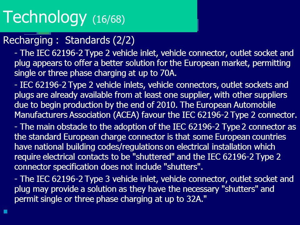 Technology (16/68) Recharging : Standards (2/