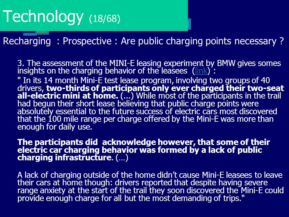 Technology (18/68) Recharging : Prospective : Are public charging points necessary