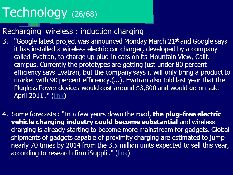 Technology (26/68) Recharging wireless : induction charging