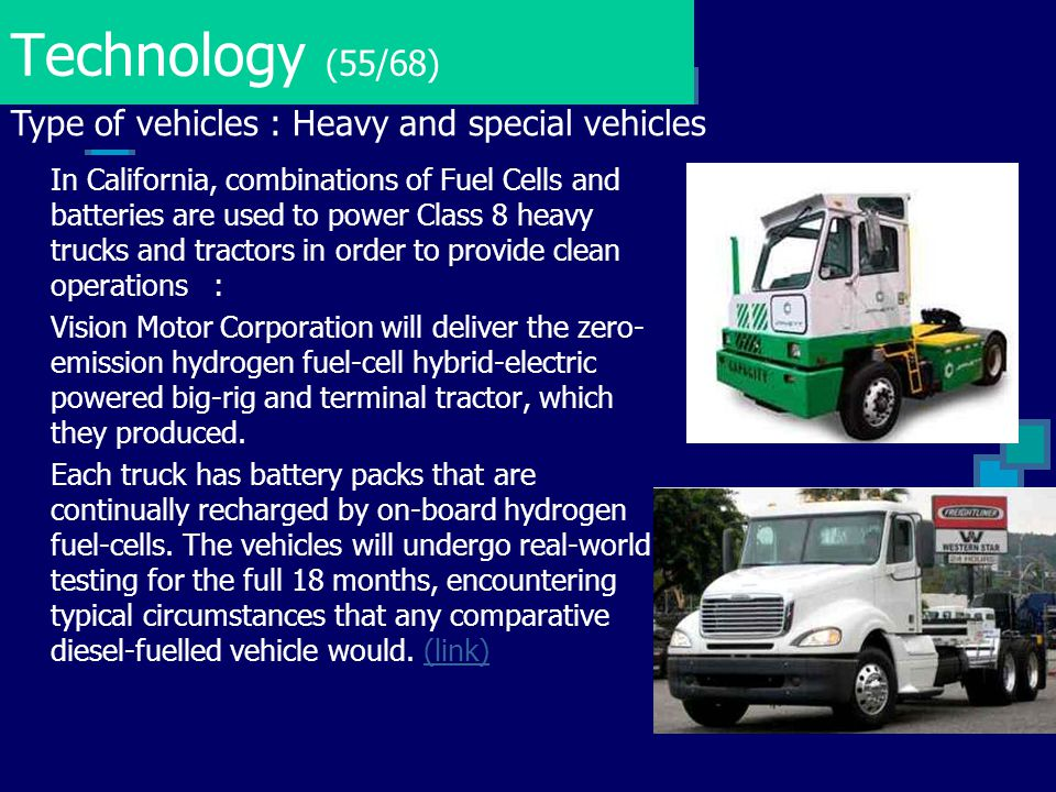 Technology (55/68) Type of vehicles : Heavy and special vehicles