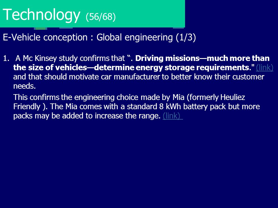 Technology (56/68) E-Vehicle conception : Global engineering (1/3)