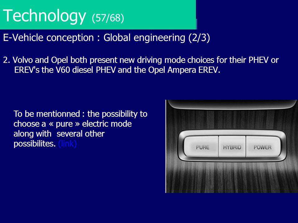 Technology (57/68) E-Vehicle conception : Global engineering (2/3)