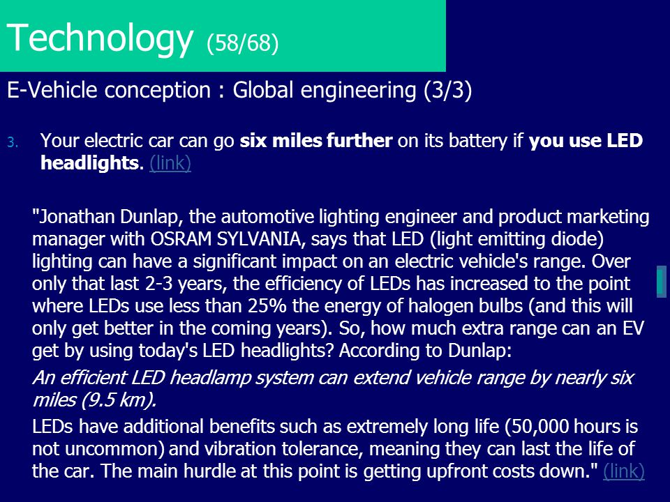Technology (58/68) E-Vehicle conception : Global engineering (3/3)