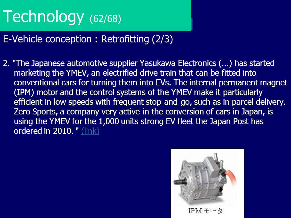 Technology (62/68) E-Vehicle conception : Retrofitting (2/3)