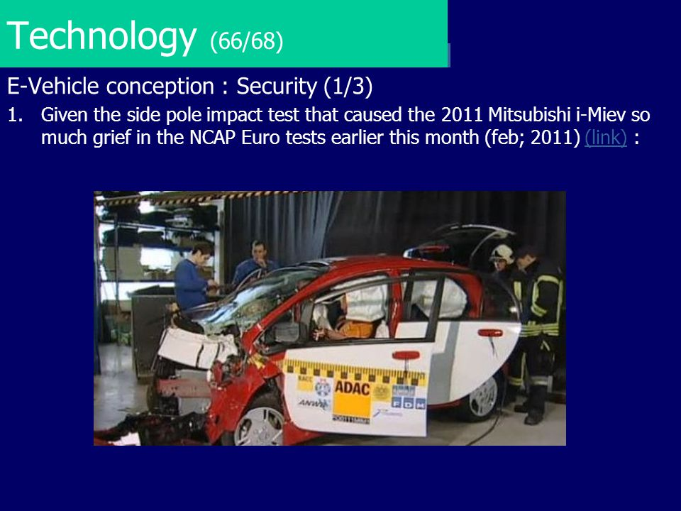 Technology (66/68) E-Vehicle conception : Security (1/3)
