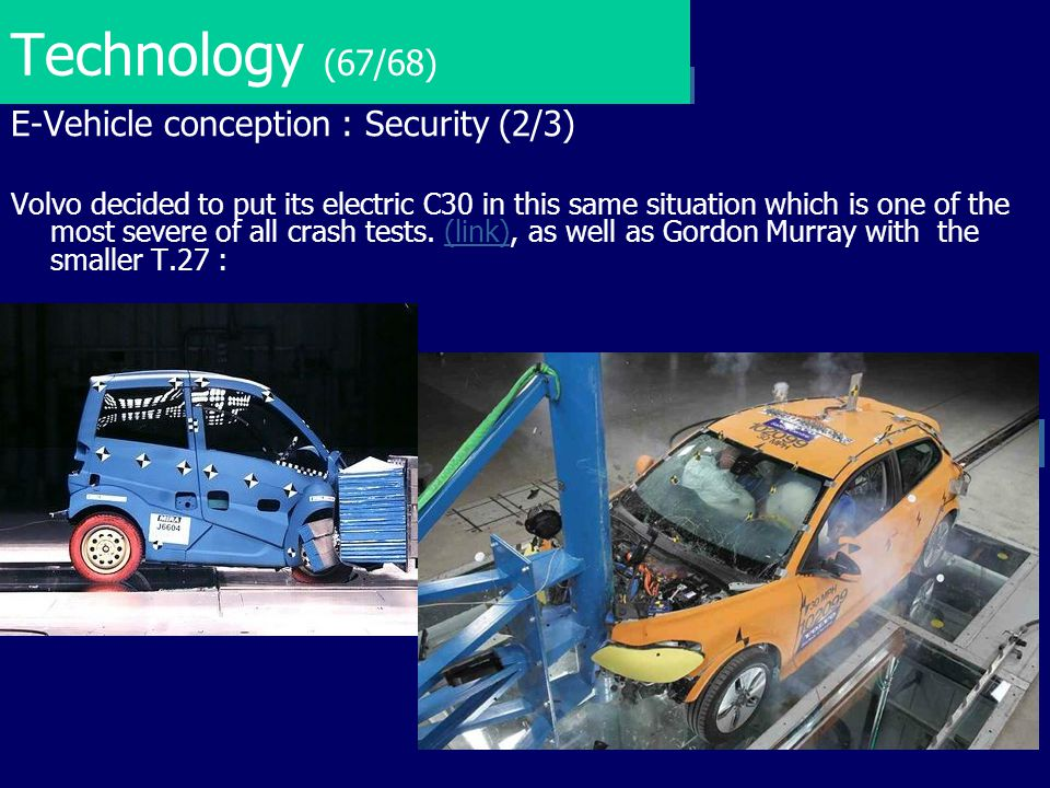 Technology (67/68) E-Vehicle conception : Security (2/3)