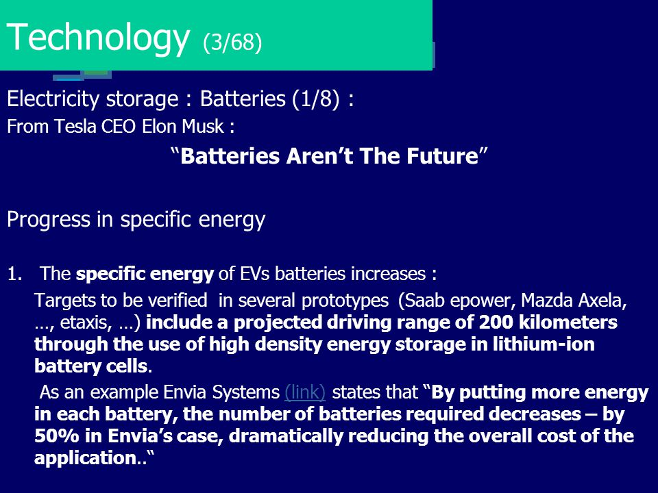 Batteries Aren't The Future
