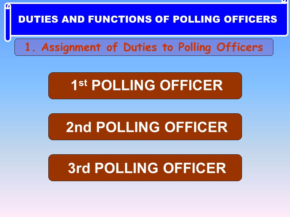 1st POLLING OFFICER 2nd POLLING OFFICER 3rd POLLING OFFICER
