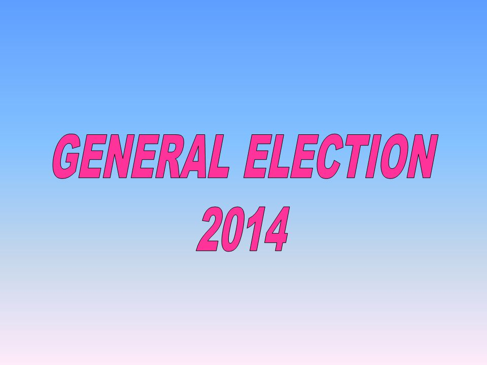GENERAL ELECTION 2014