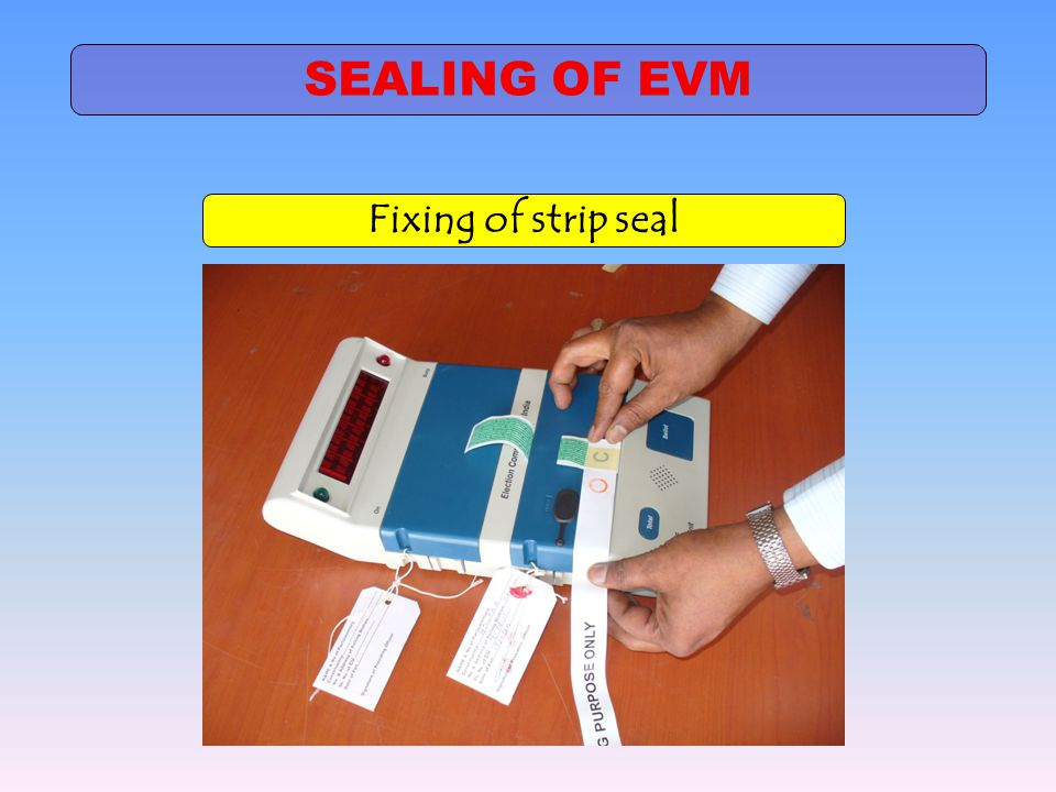 SEALING OF EVM Fixing of strip seal