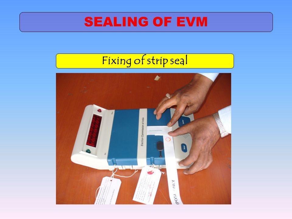 SEALING OF EVM Fixing of strip seal