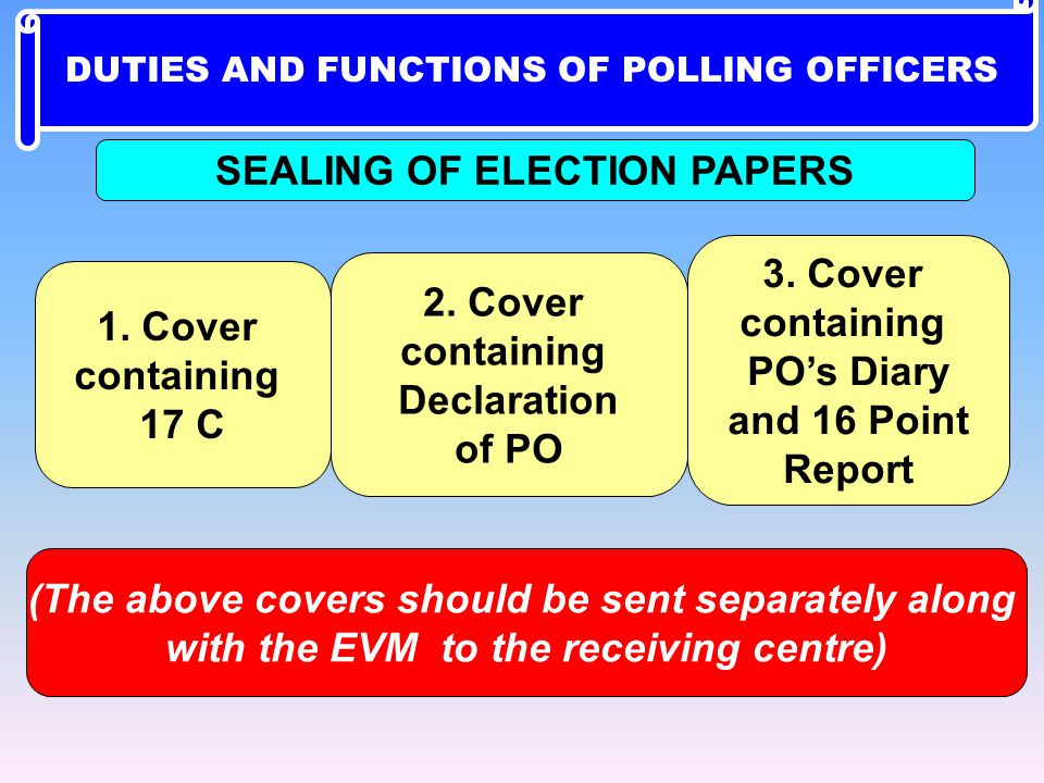 SEALING OF ELECTION PAPERS