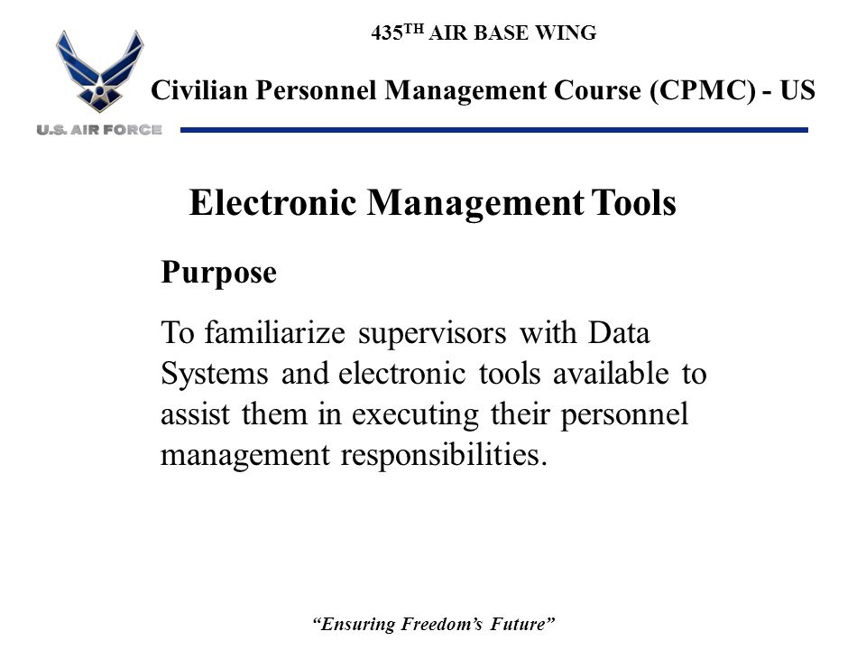 Electronic Management Tools Ensuring Freedom's Future