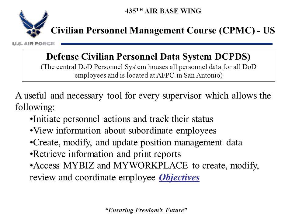Defense Civilian Personnel Data System DCPDS)