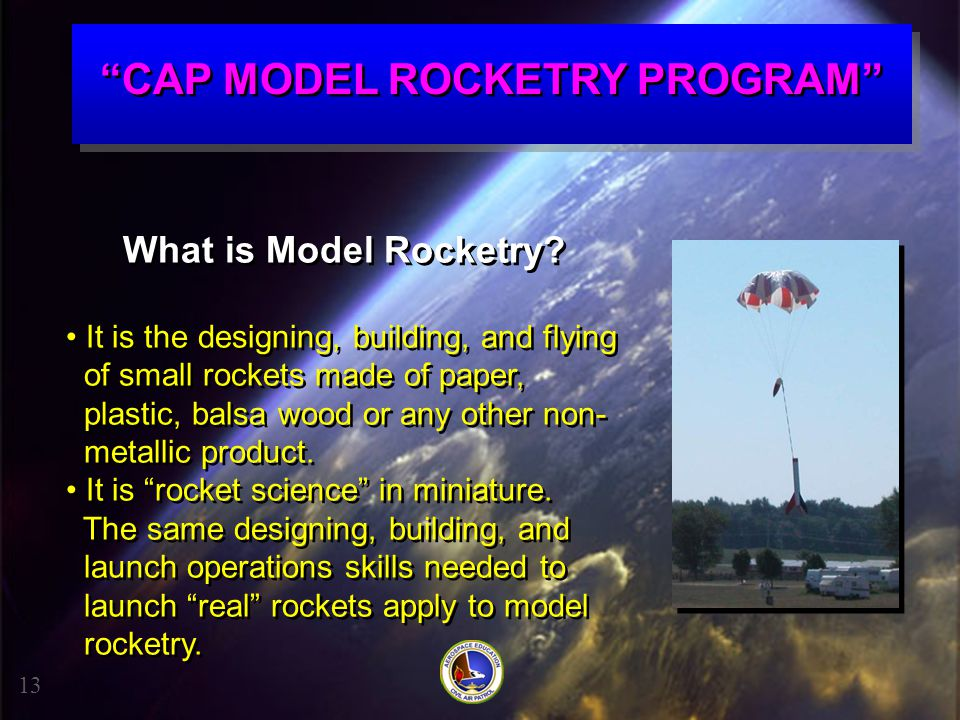CAP MODEL ROCKETRY PROGRAM