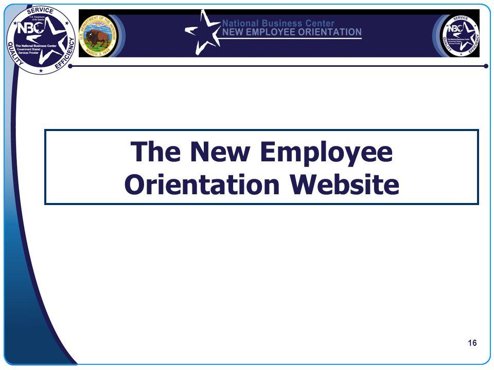 The New Employee Orientation Website