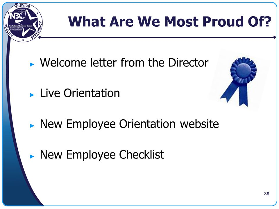 What Are We Most Proud Of