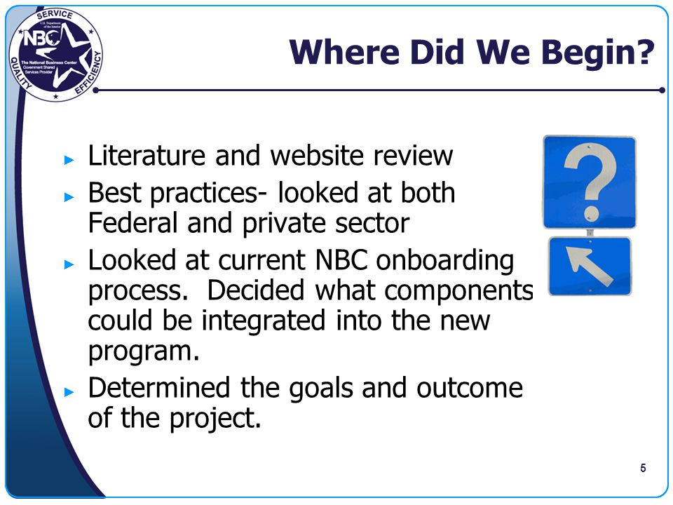 Where Did We Begin Literature and website review