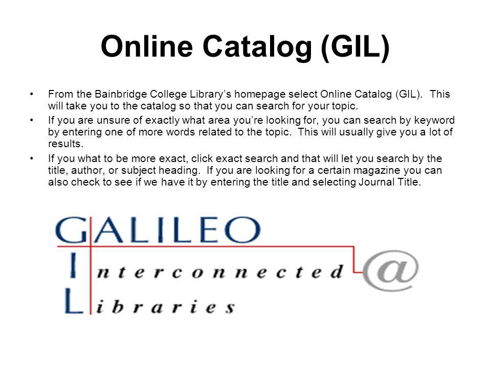 Online Catalog (GIL)
