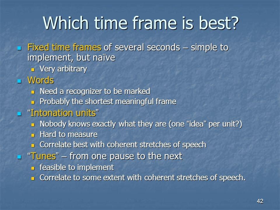 Which time frame is best