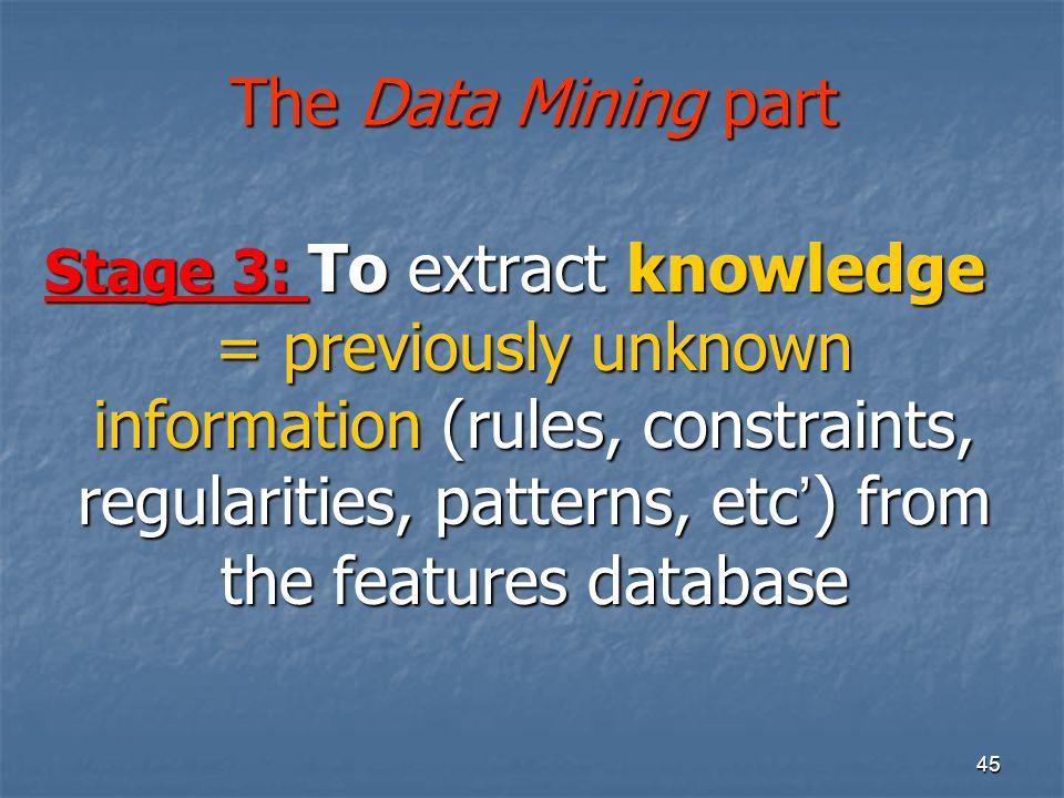 The Data Mining part