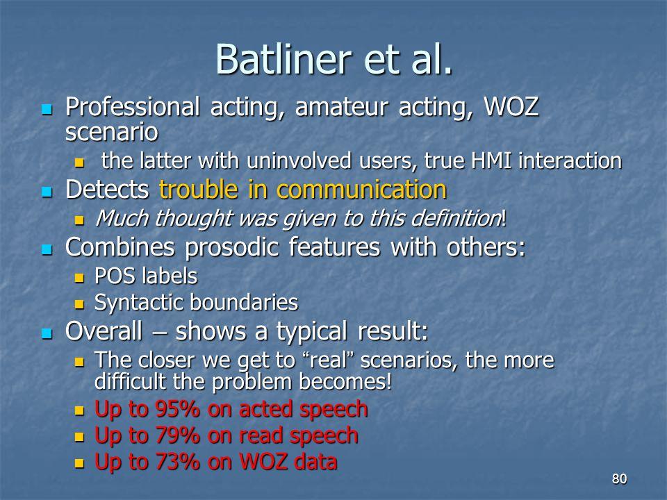 Batliner et al. Professional acting, amateur acting, WOZ scenario