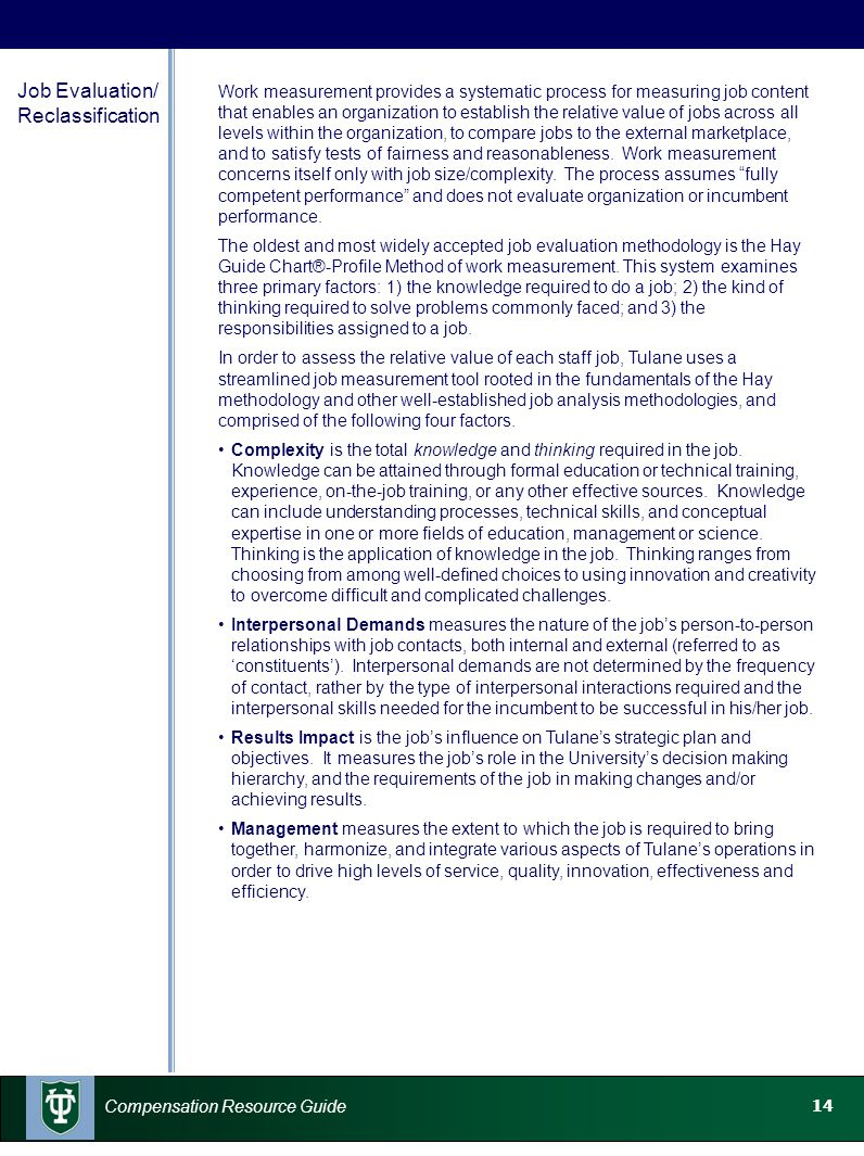 Job Evaluation/ Reclassification