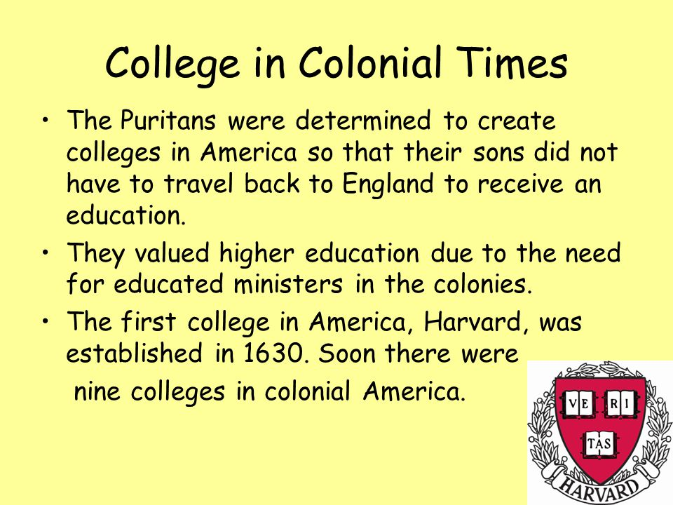 College in Colonial Times