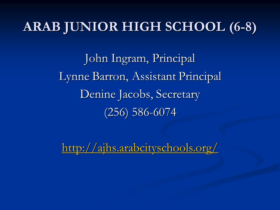 ARAB JUNIOR HIGH SCHOOL (6-8)