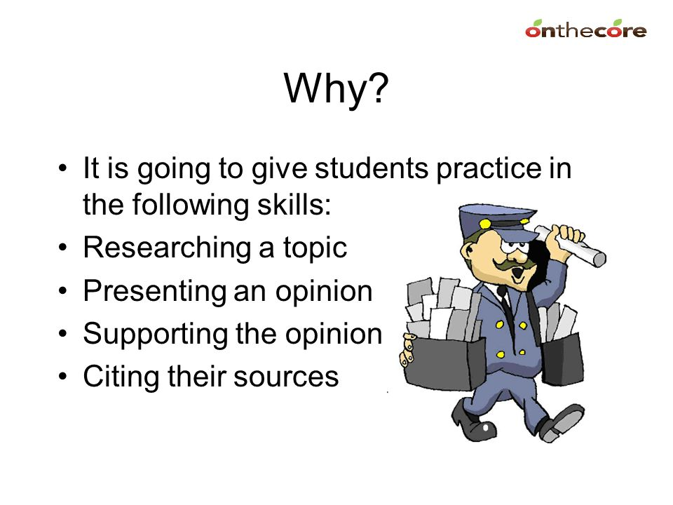 Why It is going to give students practice in the following skills: