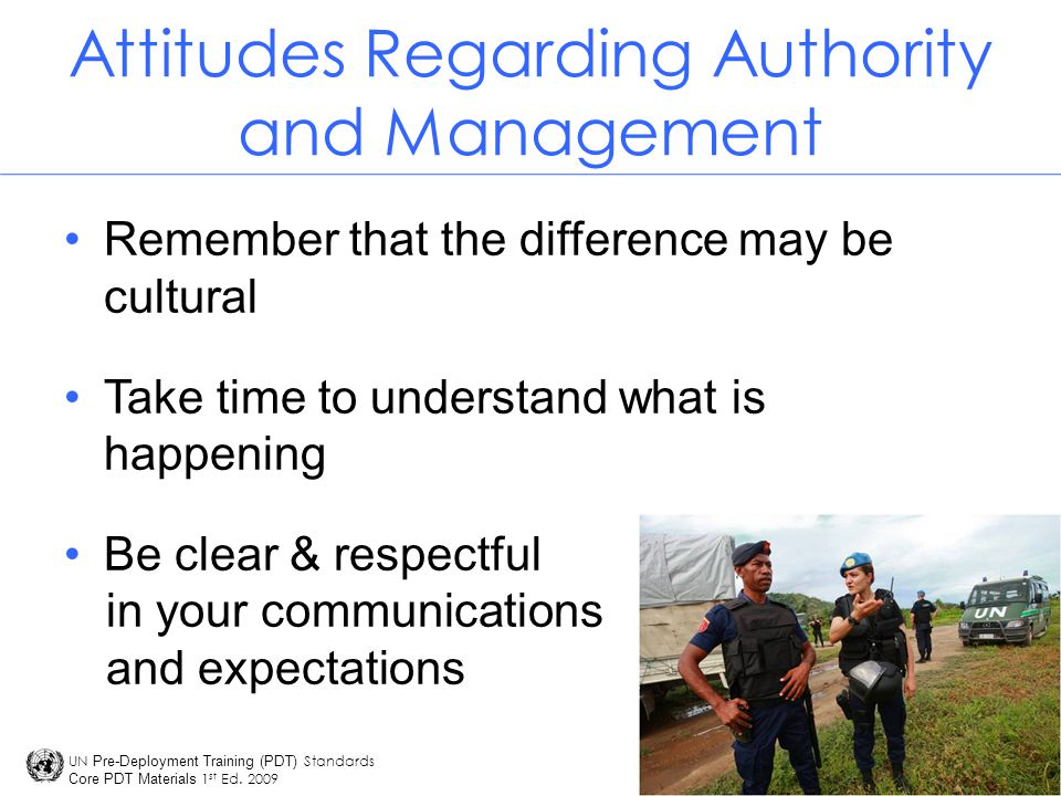 Attitudes Regarding Authority and Management