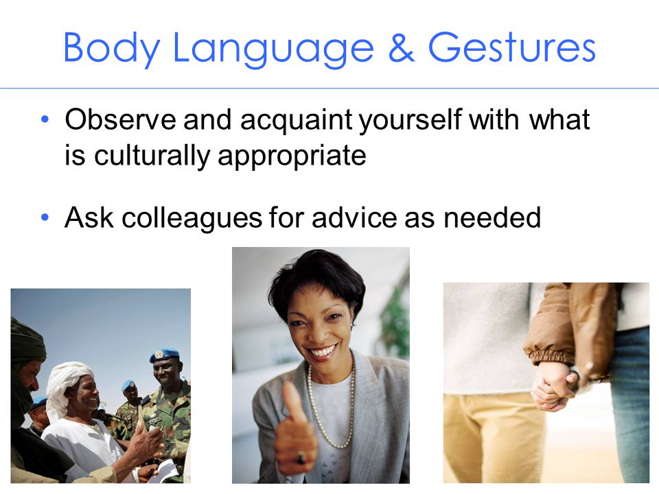 Body Language & Gestures
