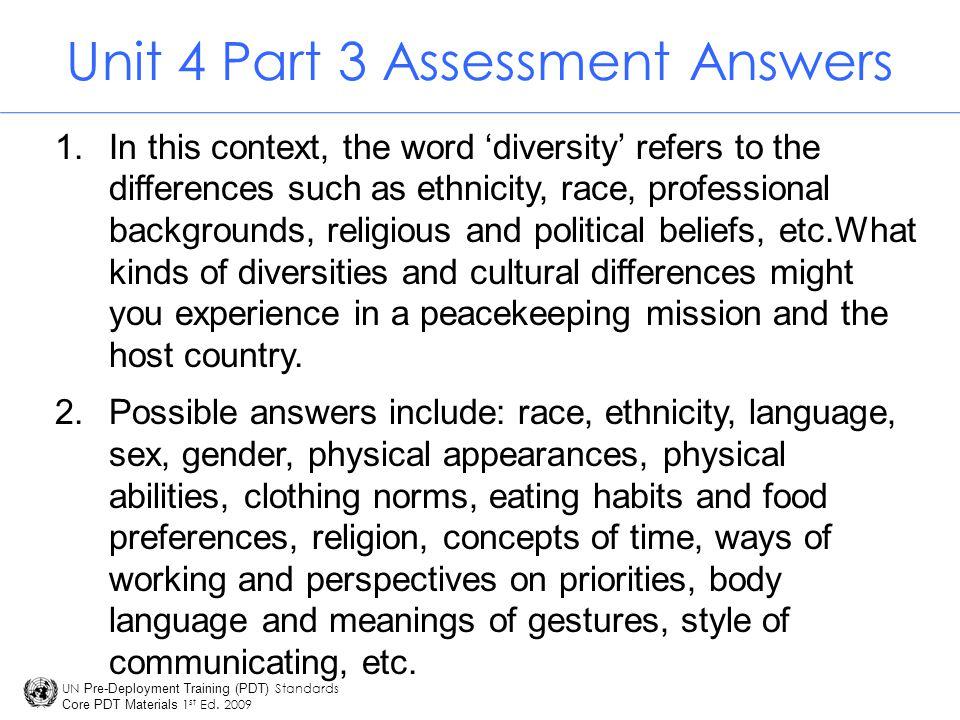 Unit 4 Part 3 Assessment Answers