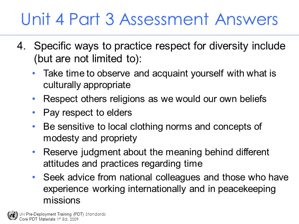 Unit 4 Part 3 Assessment Answers