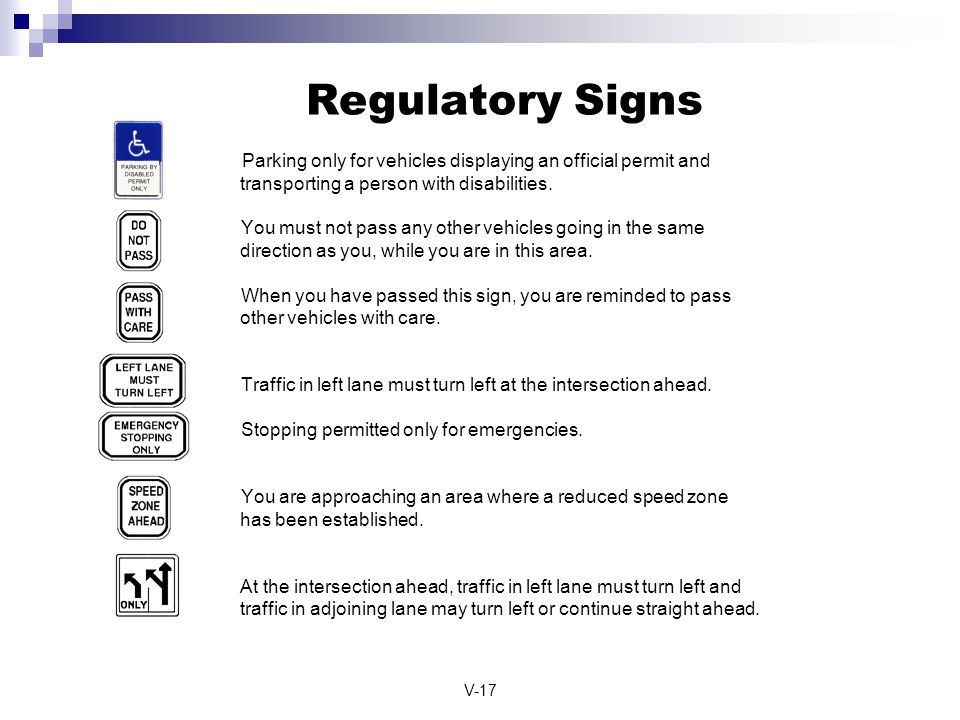 Regulatory Signs Parking only for vehicles displaying an official permit and transporting a person with disabilities.