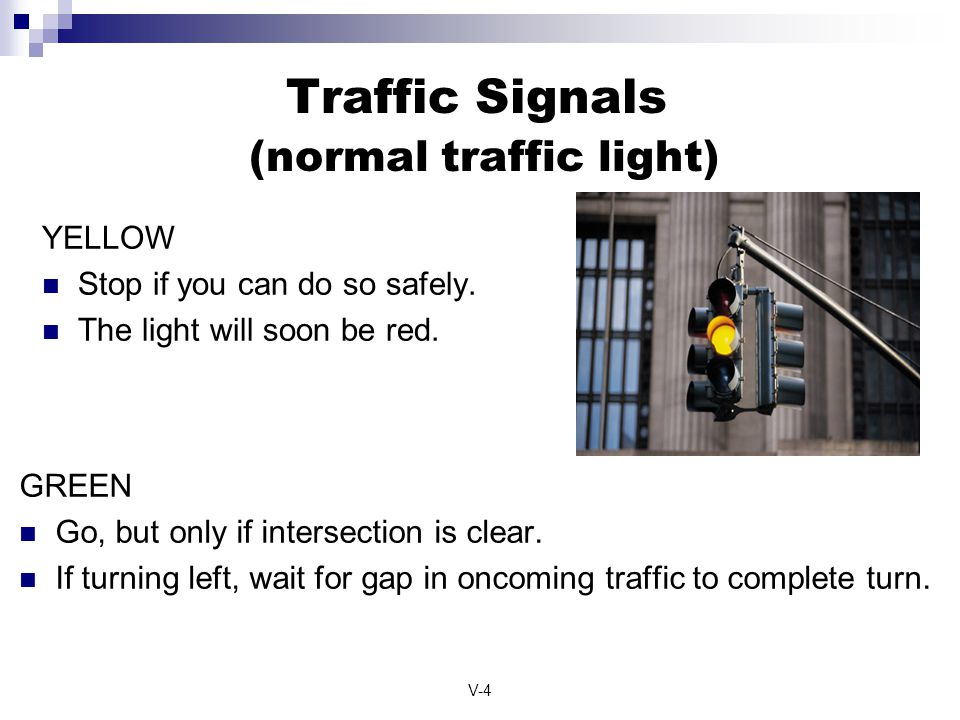 Traffic Signals (normal traffic light)