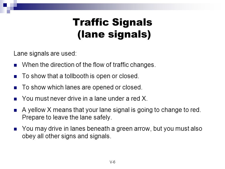 Traffic Signals (lane signals)
