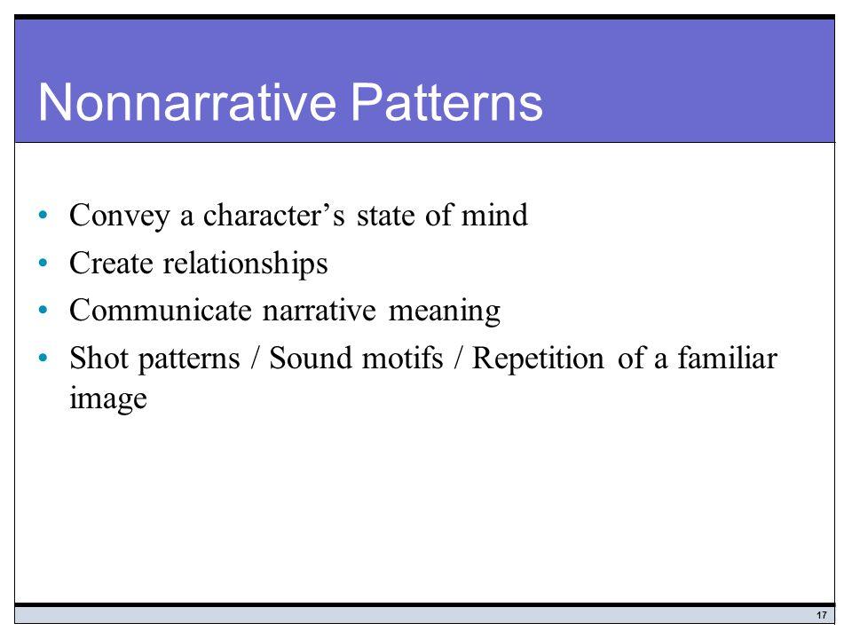 Nonnarrative Patterns