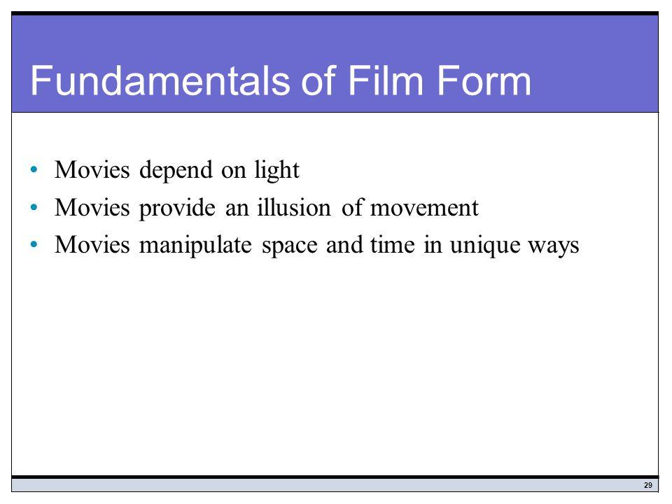 Fundamentals of Film Form