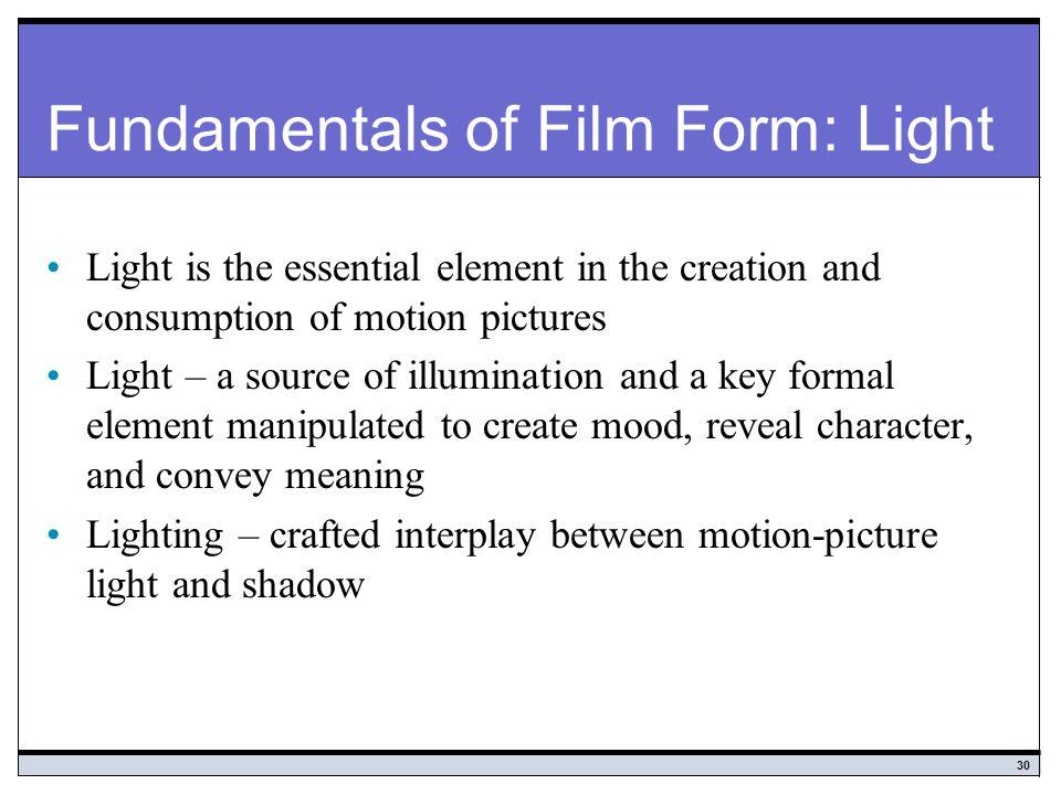 Fundamentals of Film Form: Light