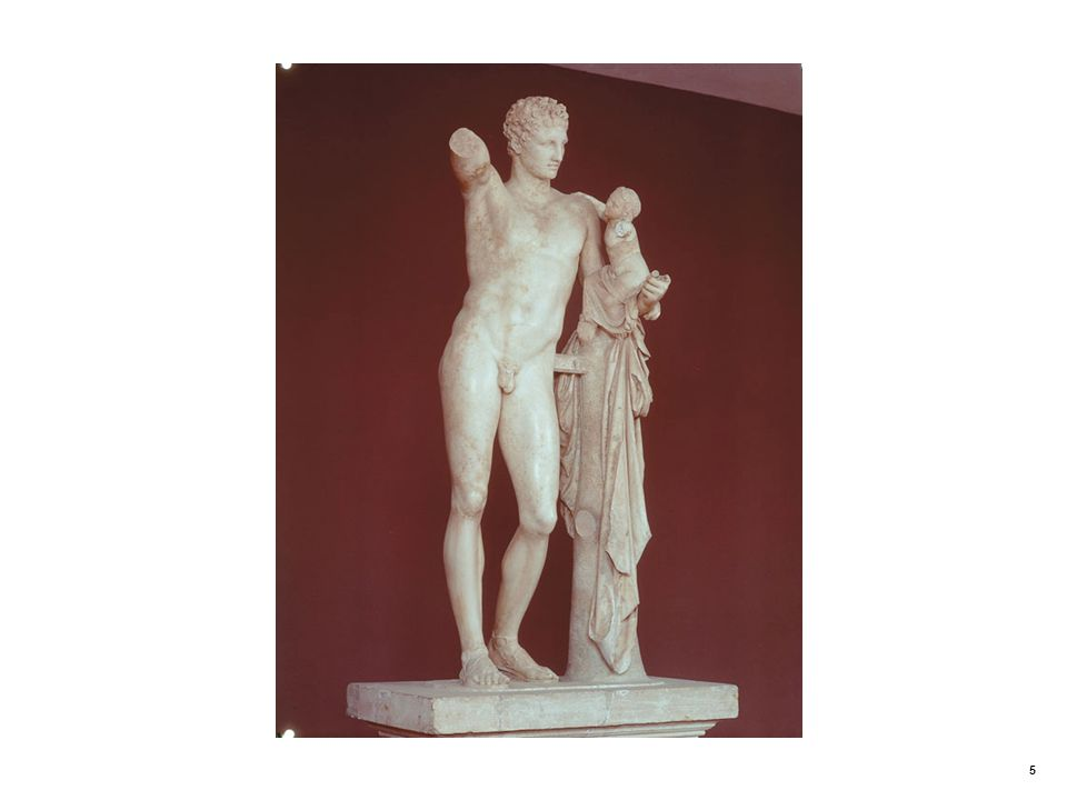 Hermes Carrying the Infant Dionysus. Praxiteles (fourth century BCE)
