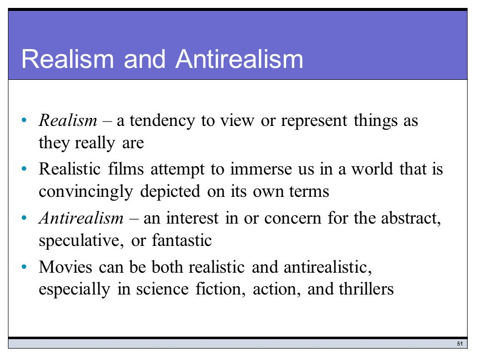 Realism and Antirealism