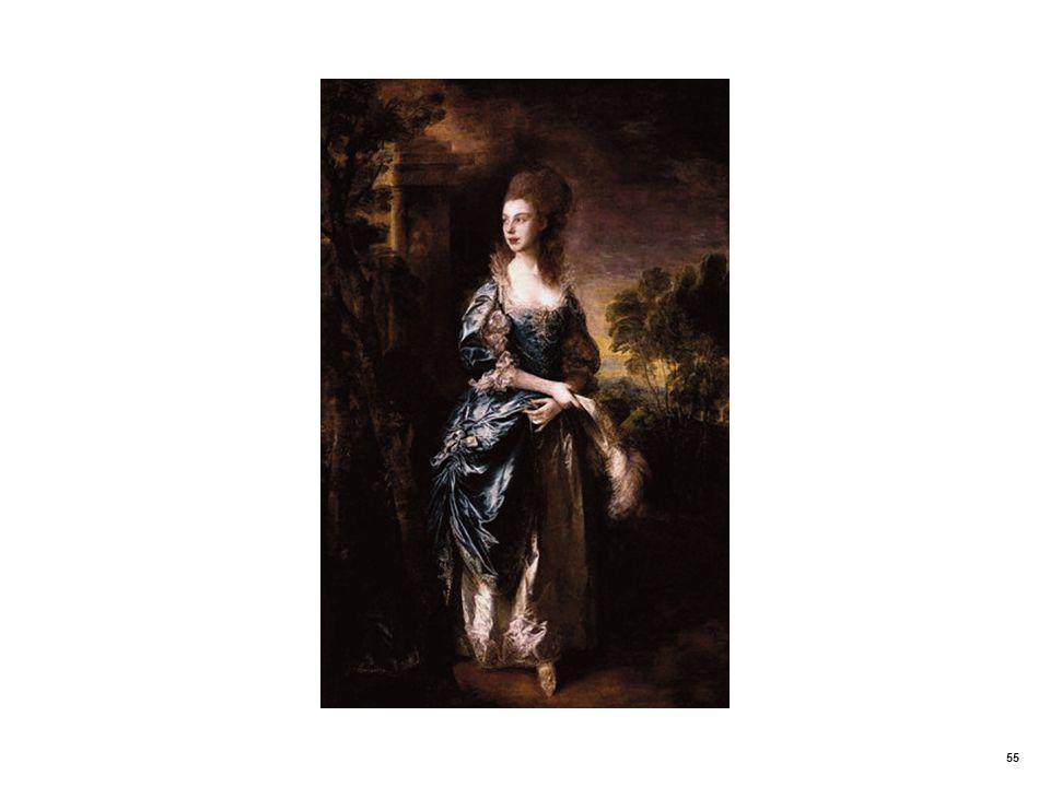 Realistic portrait. The Hon. Frances Duncombe by Thomas Gainsborough